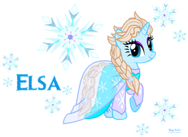 Queen Elsa of Marendelle by MeganLovesAngryBirds