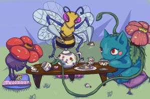 Pokemon Tea Party by DeathlySilent