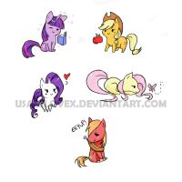 More Chibi Ponies by UsagiLovex