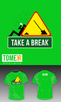 Take a break T-shirt by tomer666