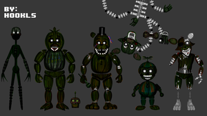 FNAF 3 all phantoms by hookls