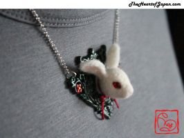 White Rabbit Necklace by TheHeartofJapan