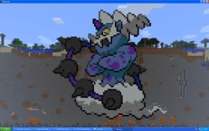 Thundurus On Minecraft by Miccopicco