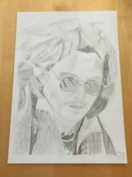 Johnny Depp Bleistift Zeichnung/ Drawing by Ela0104