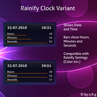 Rainify Clock Variant by Shinizzle92