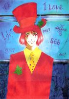 Red Hatter by tails-miya
