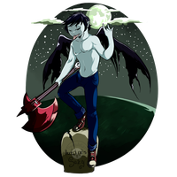 King Of the Night Marshall Lee by GingerQuin