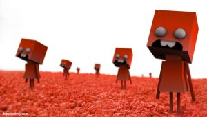 Red CuBeHeaDs by dspcreativity
