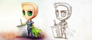 PS Chibi Characters P1 by CGCookie