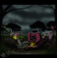 Rain play :commission: by PinkScooby54