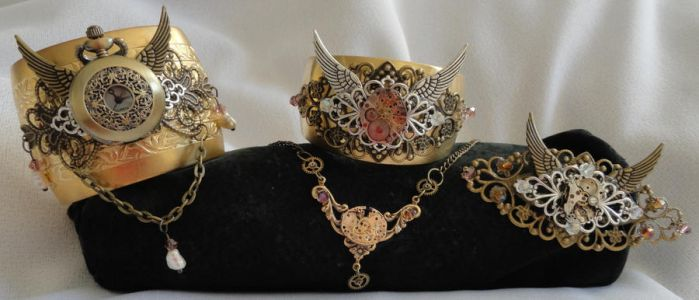 Steampunk Accessories 2 by Sparkling-Sky