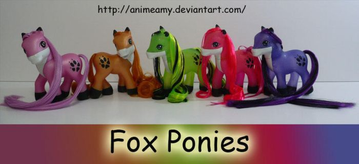 Lots Of Fox Ponies :D by AnimeAmy