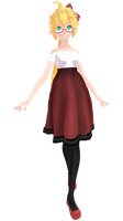 Tda Kagamine Lenka Dress [DL] [FIXED] by TaigaGunnaEatYa