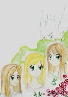 Me, my twin and our friend by Mitsuukii