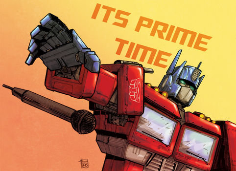 Drop the mic Optimus Prime by Ultrafpc