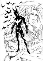 Batman Beyond+the beginning by xanseviera