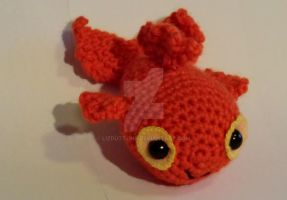 Bob the goldfish - amigurumi by lizduttons