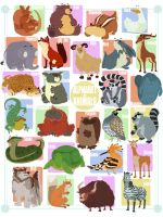 Animals in Alphabet Form by stplmstr