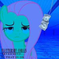 Fluttershy Cobain by MindlessGonzo