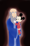Yen Sid and Young Mickey Portrait by lansiko