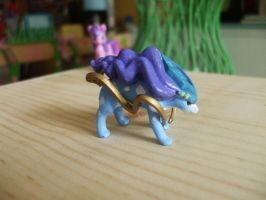 Custom Painted Suicune figure by RamenWolf1485