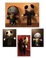 Jack and Sally Plush by chibimonkies