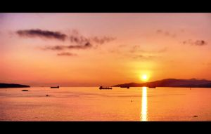 English Bay Sunset. by DTherien