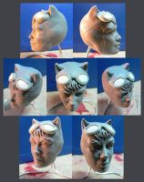 Catwoman head detail WIP. by Leebea