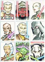 Star Wars Cards in Color by piotrov
