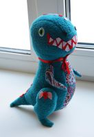plush dinosaur by multicoloredthoughts