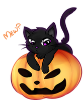 Pumpkins and Cats by MimiMarieT