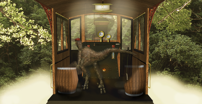 Dinosaur Driving A Train Hd 9 by dinodanthetrainman