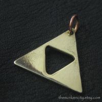 Bronze Triforce pendant by Sulislaw