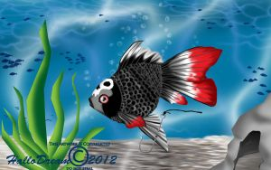 Goth Goldfish by HalloDream
