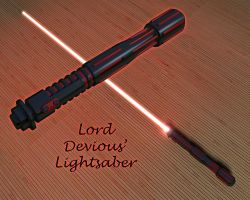 Lord Devious' Lightsaber by kytjunon