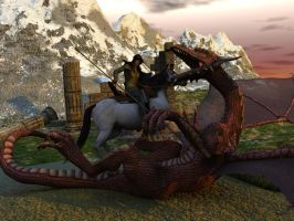 Saint George and the Dragon by caastel