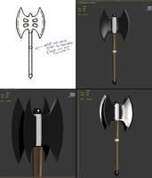 Double Double-Headed Axe by prohloff