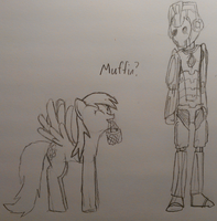 Derpy and the Cyberman by GoodStNero