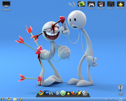 My New Simple Desktop by h0userche