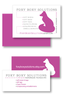 Foxy Boxy Solutions Business Cards by foxyboxysolutions