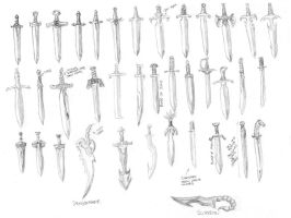 Exodus: Weapons: Short Swords by darkestnight