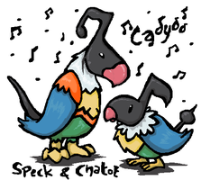 Speck and Chatot by cadyoo