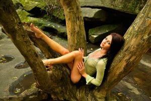 Tara - sheer green in tree 1 by wildplaces