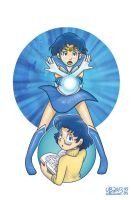 Ami Mizuno, alias Sailor Mercury by TheBourgyman