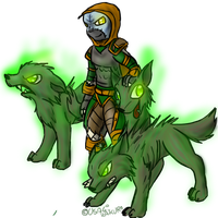 Nathanos and his dogs by Usagi-Zakura