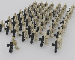 Lego Battle Droid Contingent by MrElusive777