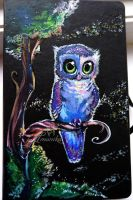 Owl painting by Imanika