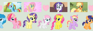 Mane Six Shipping Babies by MagicalAdoptables