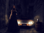Car at night lighting affects by MichellesParanormal