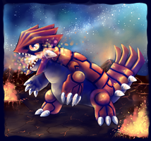 Chibi Groudon by PurePeanutty
